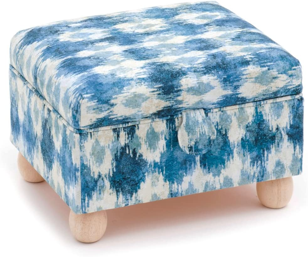 d//w//h Hobby Gift Ikat Extra Large Sewing Stool 26 x 33 x 22cm