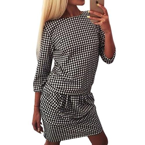 Maniche lunghe Donna rotonda Cotone Moda allentato vestito dalle donne del mini vestito dal corpo