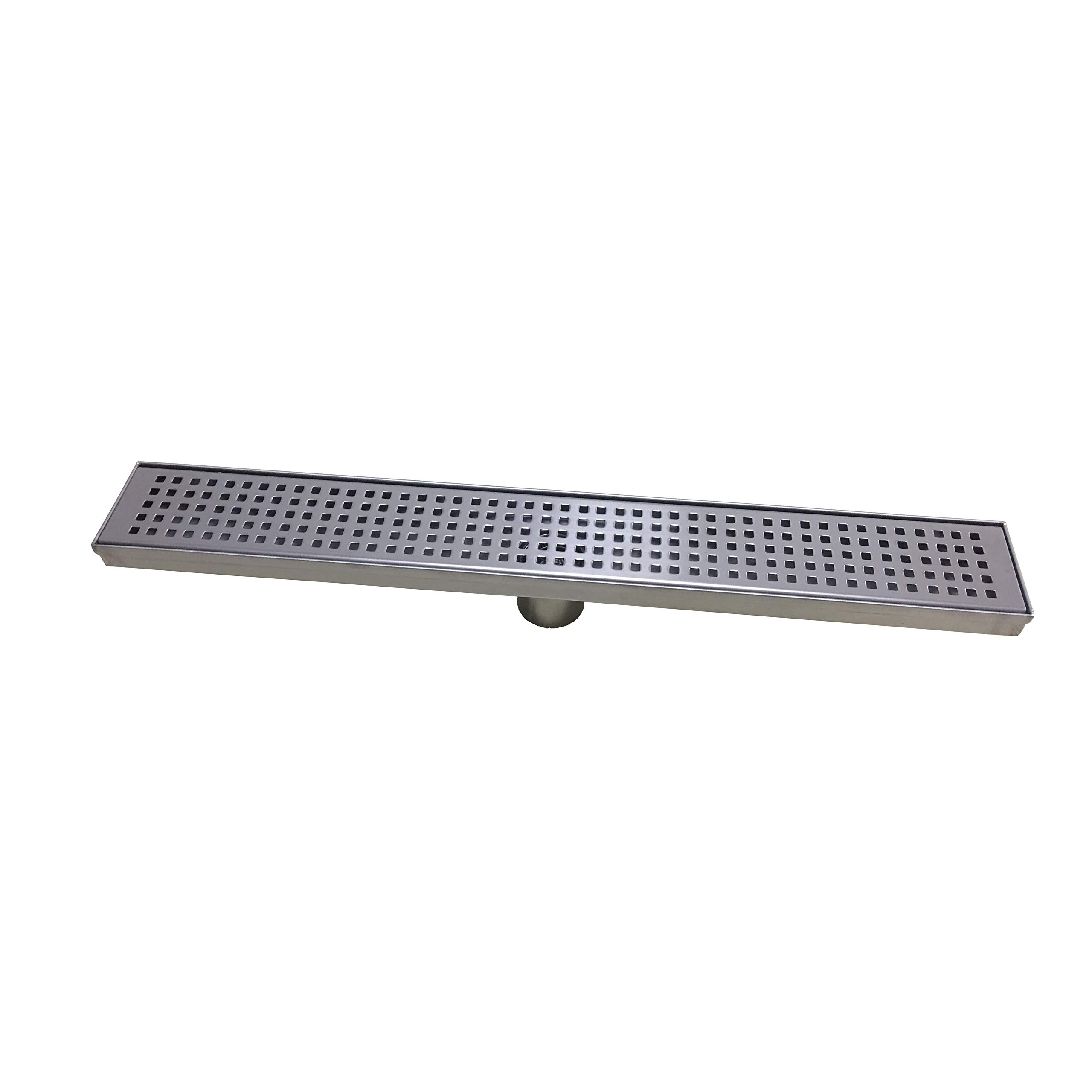 Naiture Brushed Stainless Steel 18'' Lattice Linear Shower Drain by Naiture.com Live in Nature