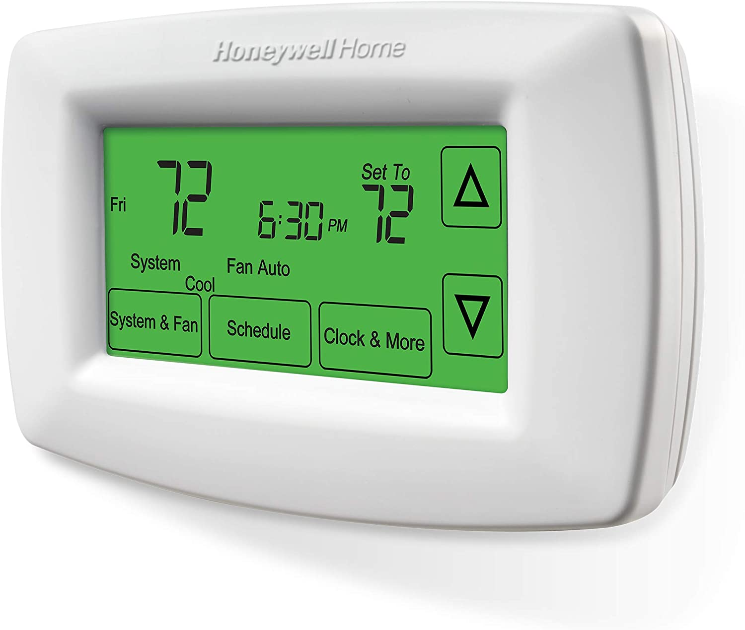 Programmable Thermostat White Free App WiFi 7 Day Programming Backlit Display