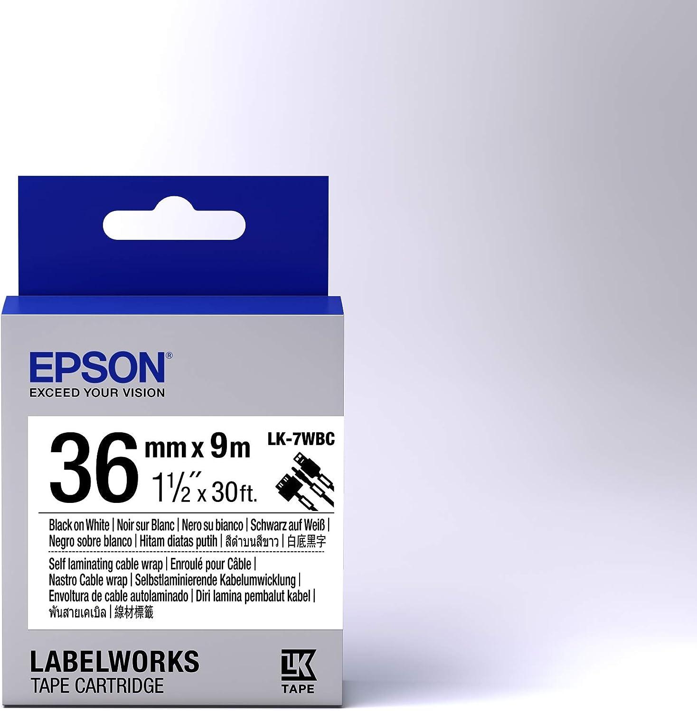 EPSON Ribbon LK-7WBC white//black