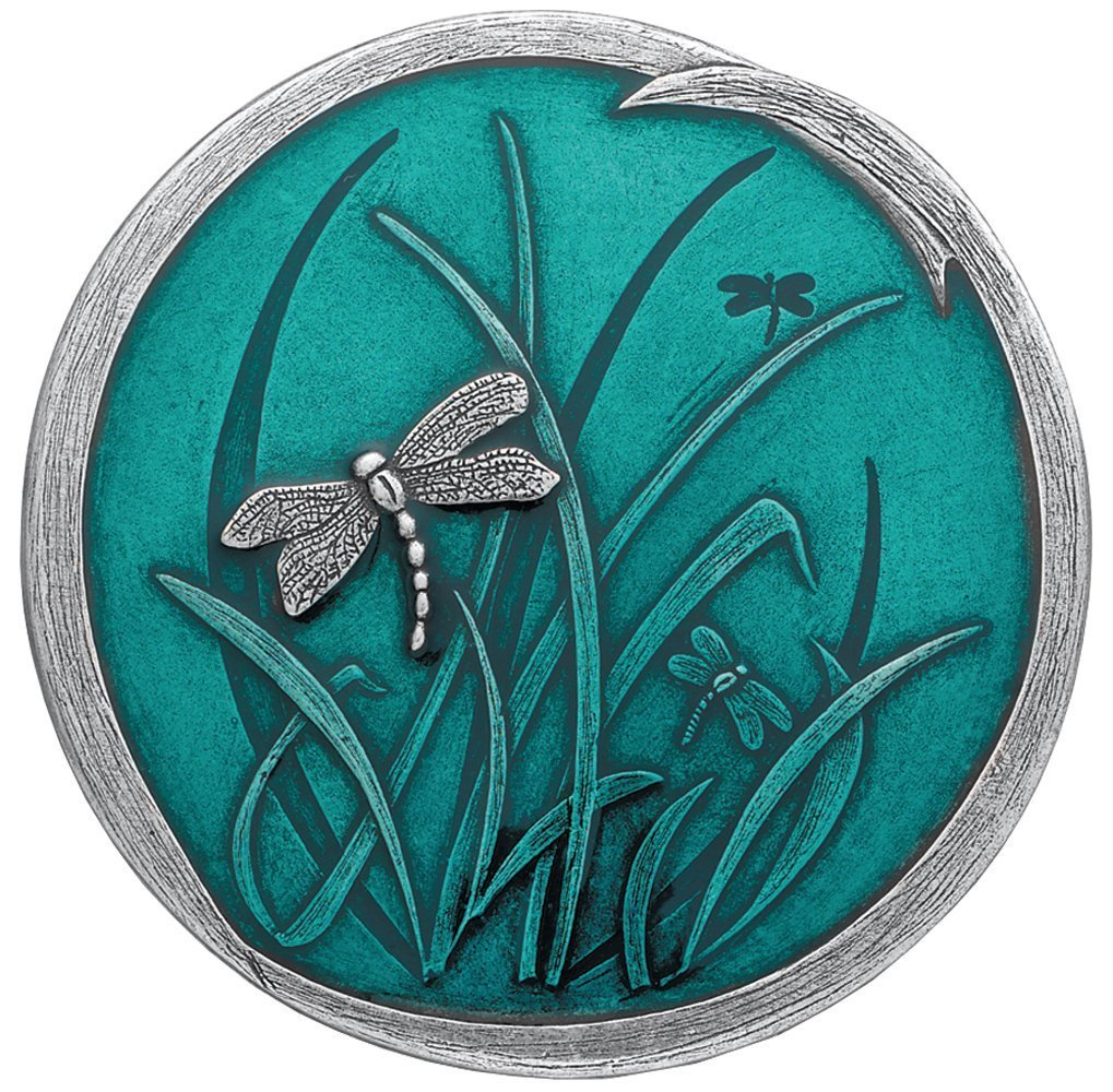 Danforth – Dragonfly Purse Mirror Teal – 2 7 8 Inch Diameter – Gift Boxed – Handcrafted – USA