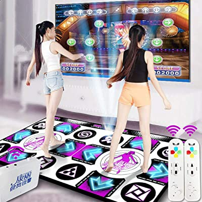 Wireless Double Dancing Mat + 2 Remote Controller, Dance Pad Mat Anti-Slip Wear Resistant, Yoga Fitness Body Building Dancing Mat, Dancing Step Dance Mat Pad for PC TV Household Game (Purple): Health & Personal Care