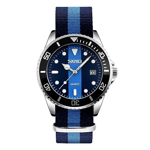 e6016678c88a CIVO Reloj Analógico de Cuarzo Para Hombres Militar Sencillo Movimiento  Japonés Casual Lujo Reloj de Pulsera Deportivo Tono Plateado Impermeable  Relojes ...