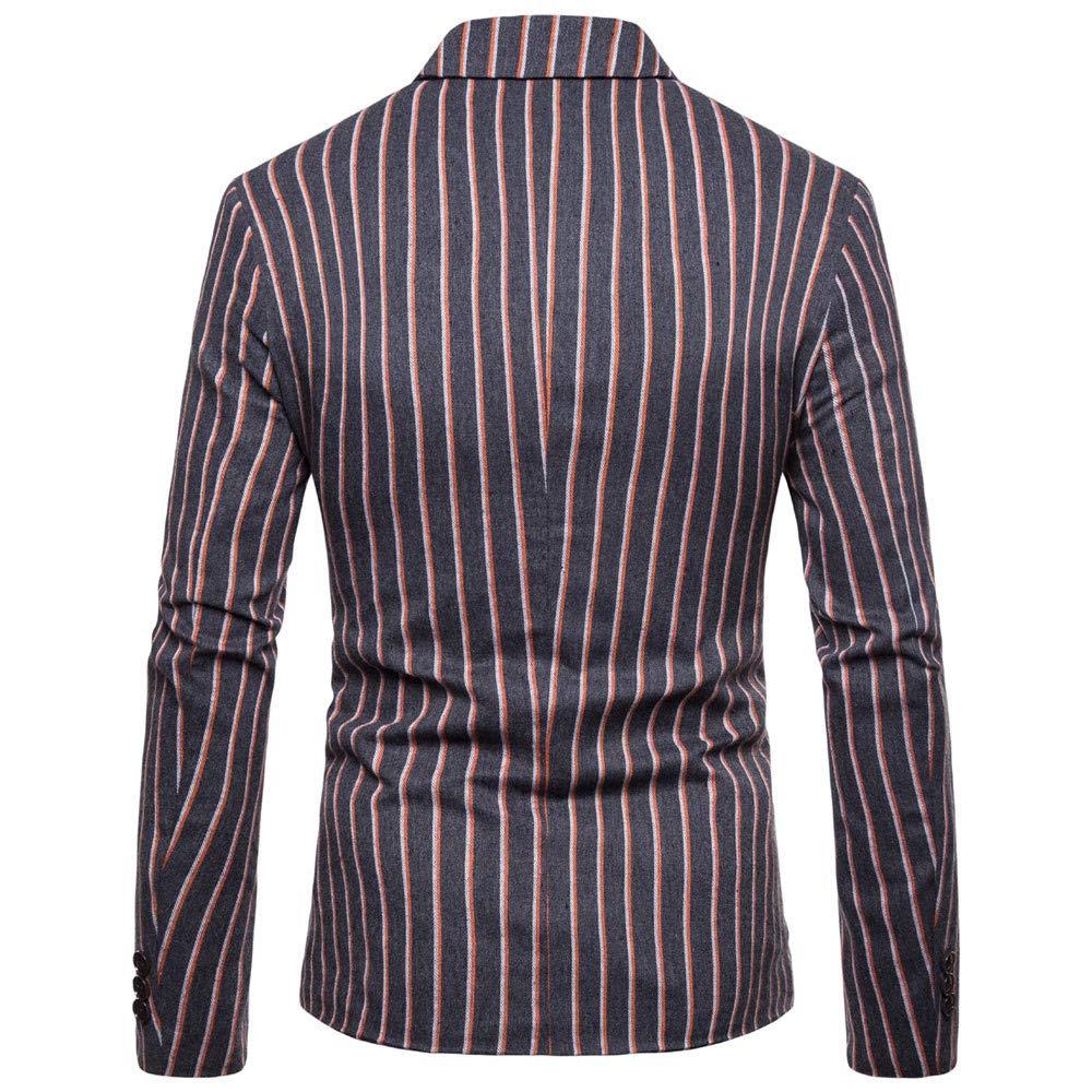 Yvelands Trajes y Abrigos Deportivos, Camisas para Hombre Liquidación Traje a Rayas de Manga Larga Chaqueta de Solapa Outwear Top Tank Blusa: Amazon.es: ...