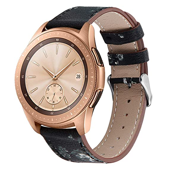 Compatible Galaxy Watch Active (40mm) Leather Bands, 20mm Feminine Replacement Wristband Strap Bracelet for Samsung Galaxy Watch Active (40mm)/Galaxy ...