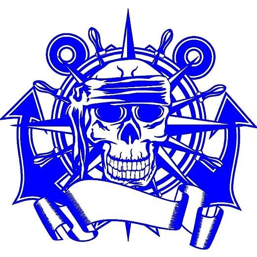 guijiumai Dctal Skull Rudder Compass Sticker Punk Death Decal ...