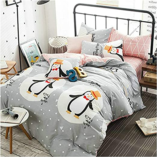 Queen Size 100/% Bed sheet Bedding Set  With Pillow Cover
