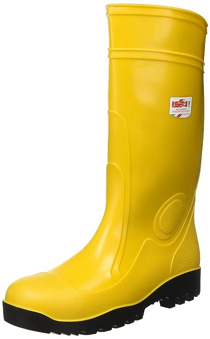 0f3a70e2c989ce Stivale antinfortunistico da lavoro in PVC giallo S5 con puntale e ...