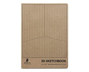 Koala Tools Isometric Graph Paper Notebook 1 Unit 75