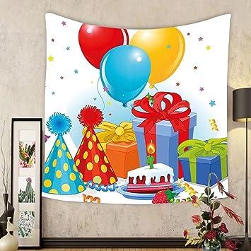 Amazoncom Gzhihine Custom tapestry Birthday Decorations Tapestry