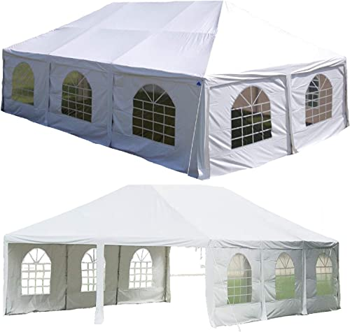 DELTA Canopies 30 x20 PVC Frame Tent White – Party Wedding Canopy Shelter