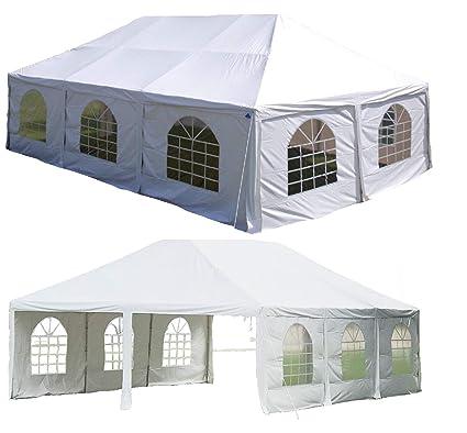 Image Unavailable  sc 1 st  Amazon.com & Amazon.com : DELTA Canopies 30u0027x20u0027 PVC Frame Tent White - Party ...