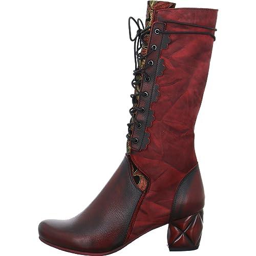 Simen Damen Stiefel Roter Stiefel 0780A rot 561113: Amazon