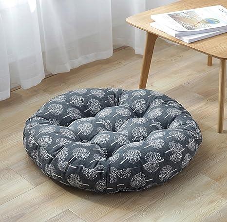 Amazon.com: TMJJ Almohada de lino y algodón para suelo ...