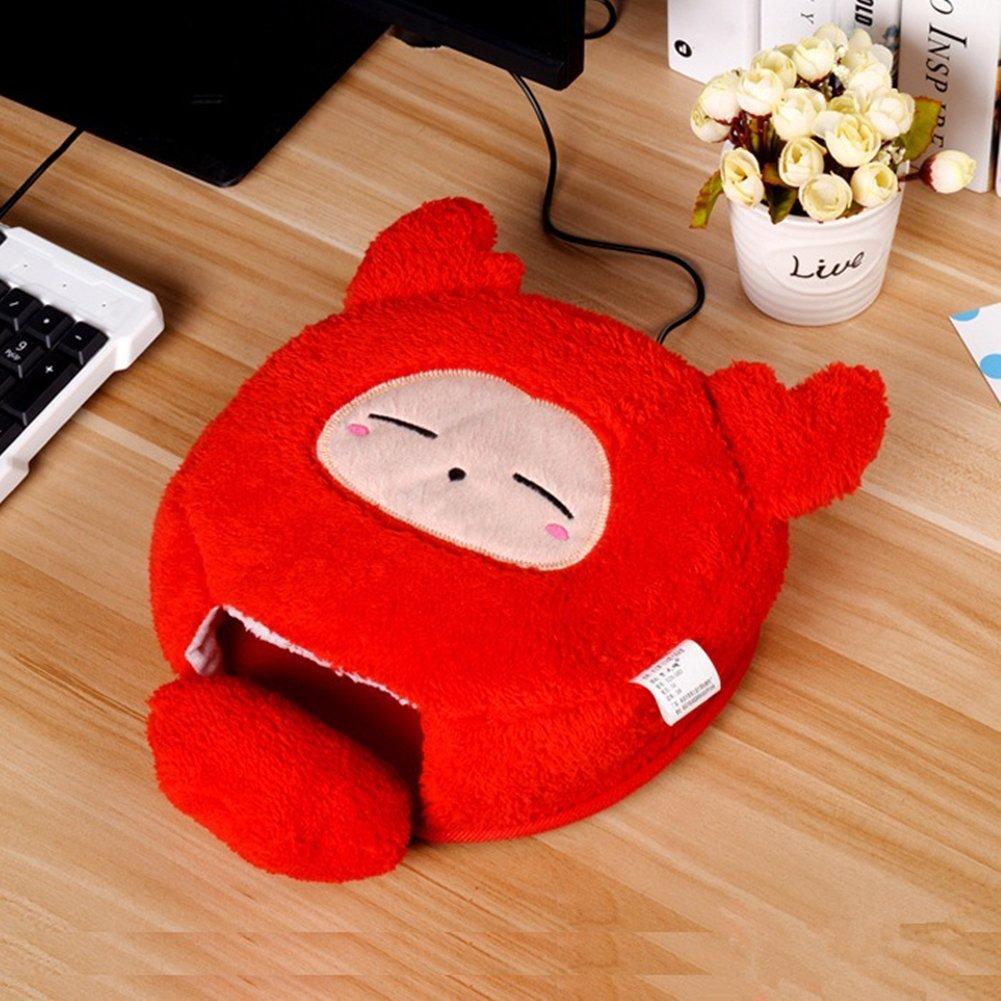 Tapis de souris chauffe-main USB, tapis de souris fi/èvre dessin anim/é plus chaud, tapis de souris chaud avec un poignet lavable /(Miffy Rat/) tapis de souris fièvre dessin animé plus chaud JC Trumps
