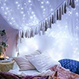 YIHONG 66ft 200LEDs Fairy String Lights USB Powered,8 Modes Remote Control Twinkle Lights with Timer Firefly Lights for Garde