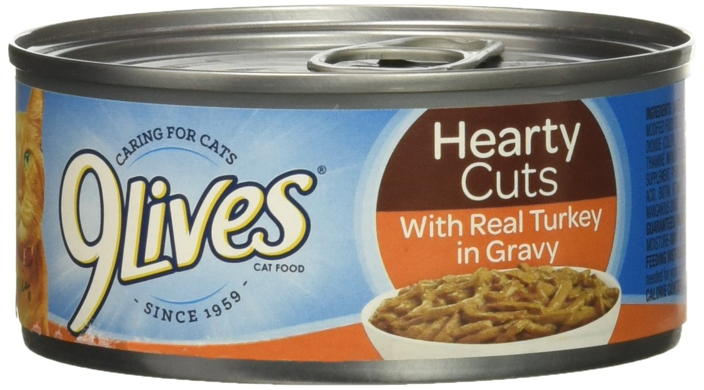 9 Lives Hearty Cut/Turkey, 4.0 Count (Pack of 6) by 9Lives