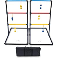 Driveway Games Premium Ladder Ball Toss. Bolas Ladderball Game Set. Outdoor Lawn Bolos