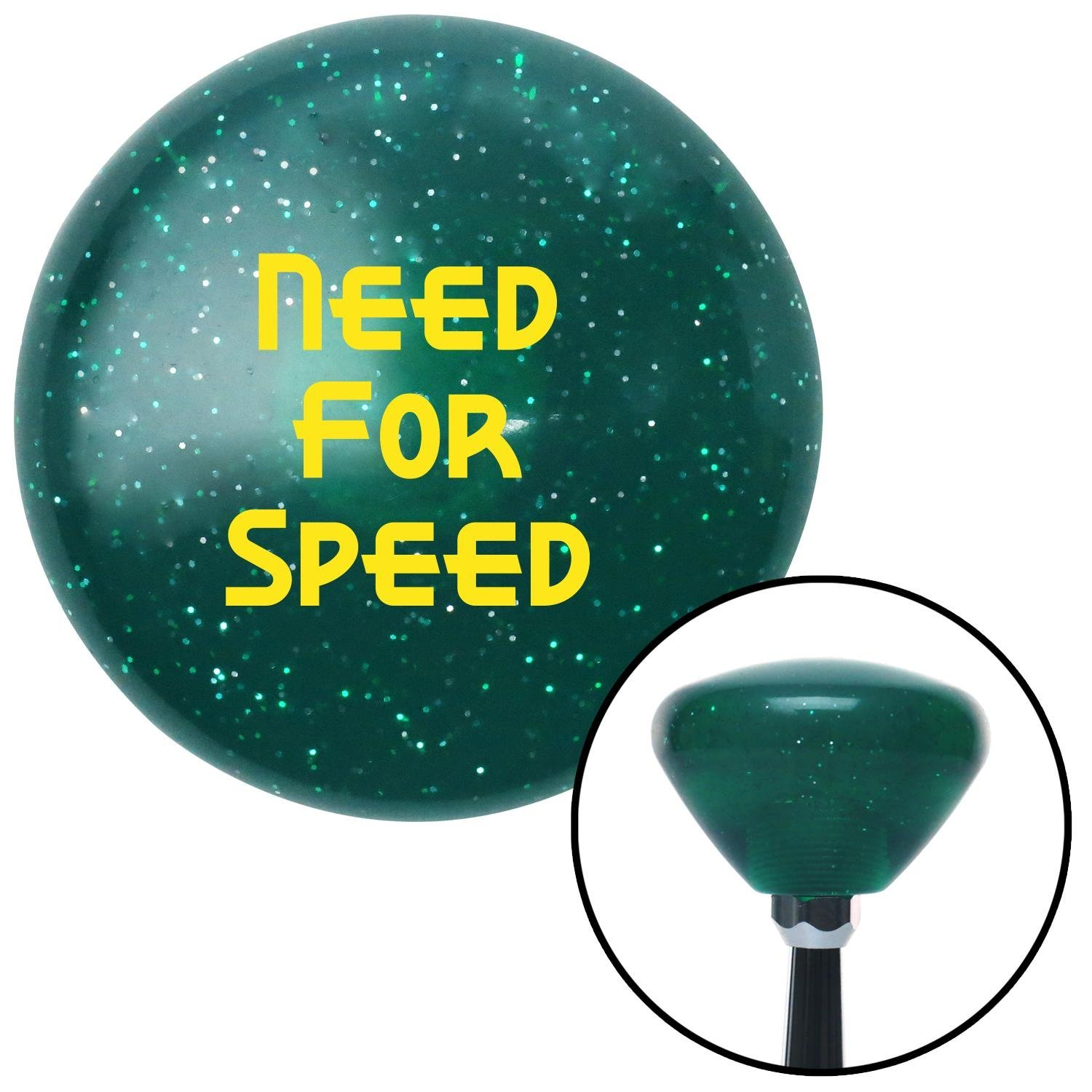 Yellow Need for Speed American Shifter 205806 Green Retro Metal Flake Shift Knob with M16 x 1.5 Insert