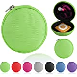 Magic Global Gadgets® Green Storage Bag Universal Carrying Clamshell Pouch Case Cover For MP3, Earphones, Headphones, iPod Shuffle, iPod Nano 6, Apple Watch Sport , Memory Cards, Gym Use