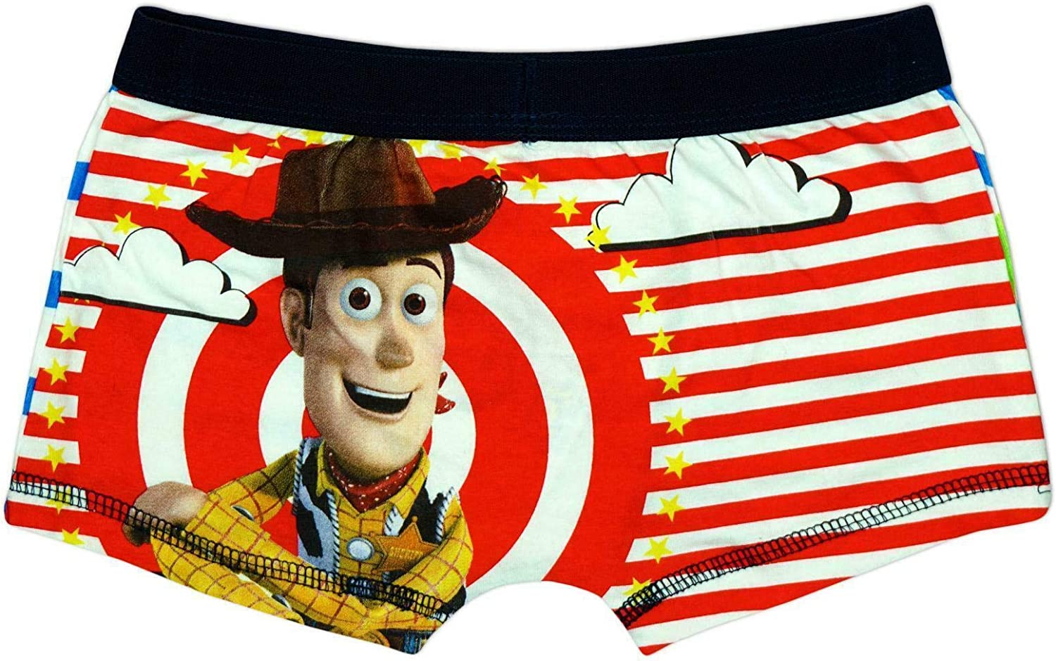 """Official Disney Toy Story /""""Buzz /& Woody/"""" Character Boxer Trunks  SIZE 4//5 YEARS"""