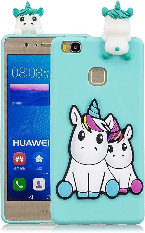 Funluna Cover Huawei P9 Lite, 3D Unicorno Modello Ultra Sottile Morbido TPU Silicone Custodia Antiurto Protettiva Copertura Flessibile Gomma Gel Back ...