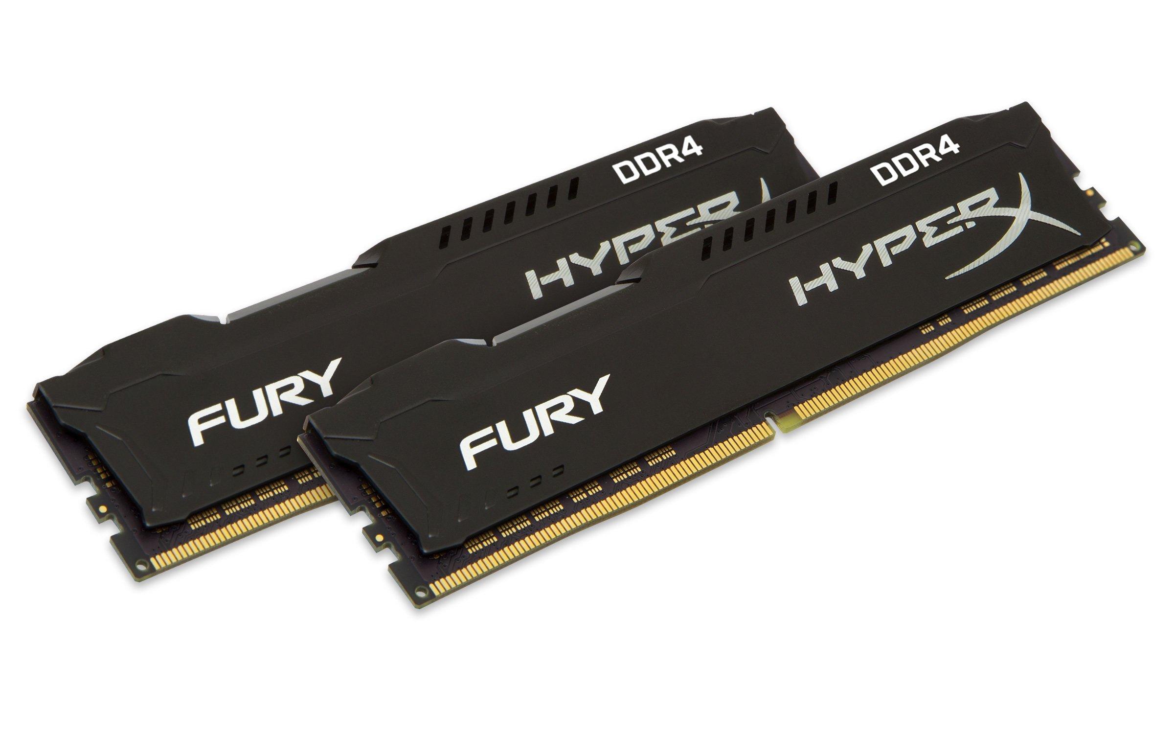 Kingston Technology HyperX Fury Black 32GB 3200MHz DDR4 CL18 DIMM(Kit of 2) Memory HX432C18FBK2/32
