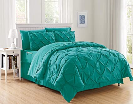 252916ad00 Image Unavailable. Image not available for. Color: Decotex 8 Piece Luxury  Juliet Pintuck Style Bed in a Bag Comforter Bedding Set with Sheets
