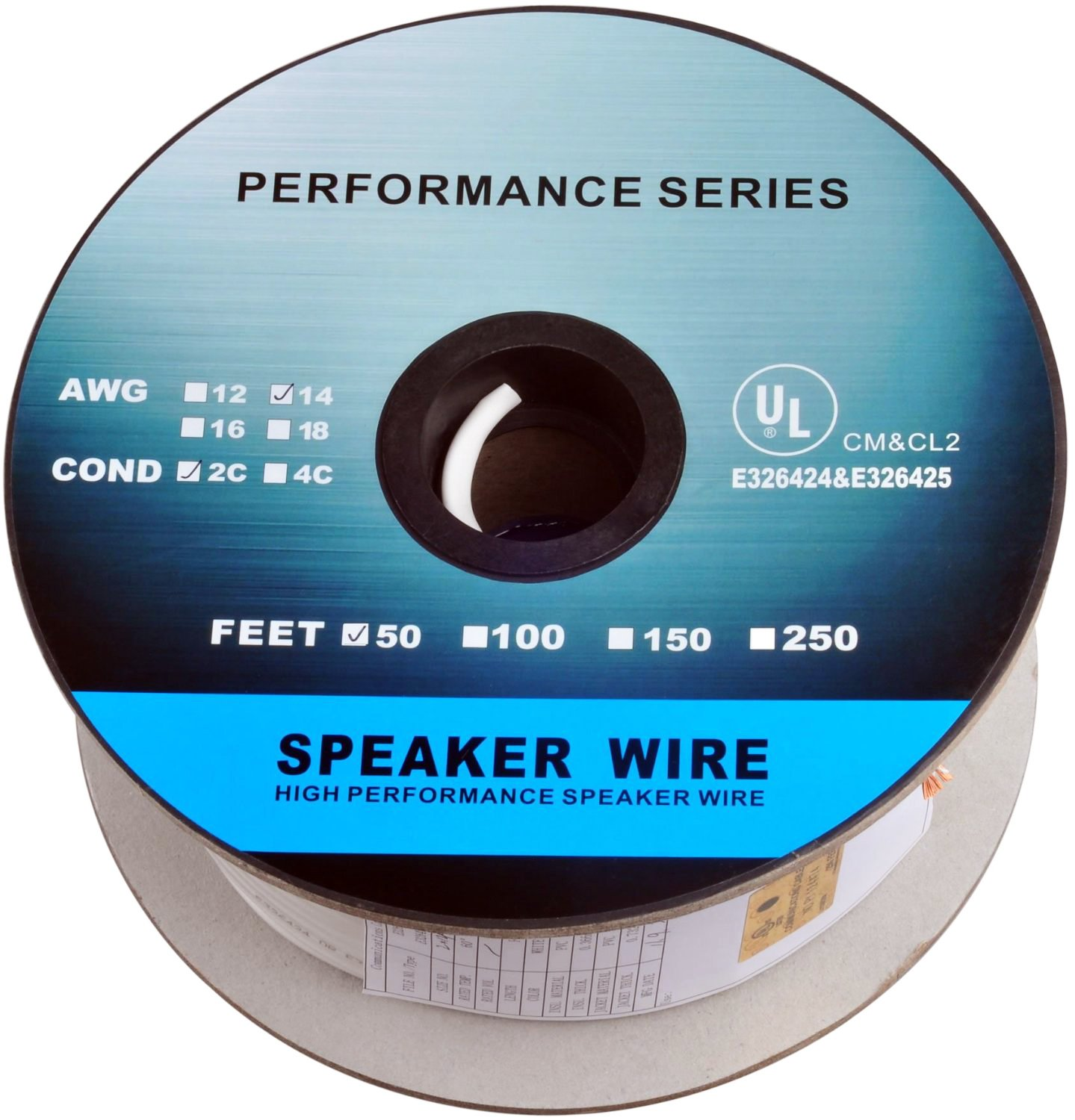 Amazon.com: C&E 50 Feet 14AWG CL2 Rated 2-Conductor Loud Speaker ...