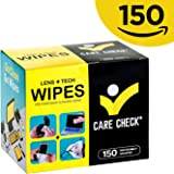 Care Check Lens Wipes, 150 Pre-Moistened Cleaning Wipes for Cameras, Laptops, Cell Phones, Eyeglasses, Other Screens and More