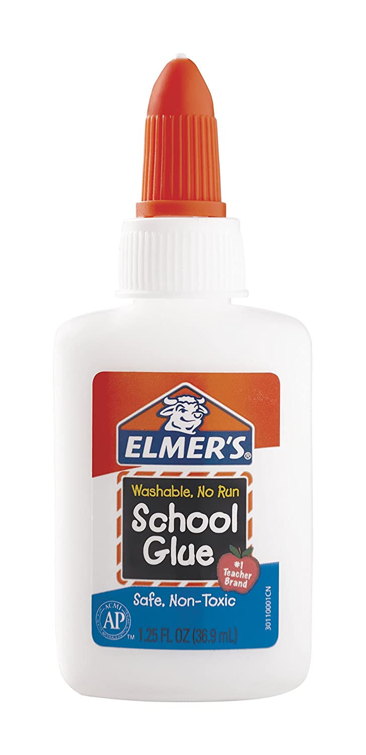 Elmer's Liquid School Glue, Washable, 1.25 Ounces, 1 Count Elmers E301