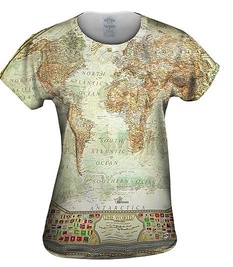 78401a8220f1 Amazon.com  Yizzam- Ash World Map -Tshirt- Womens Shirt  Clothing