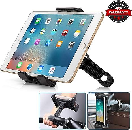 Frusde Soporte Tablet para Coche, Multifuncional Soporte Móvil para Coche Moto Bici [Barra Transversal 0.47
