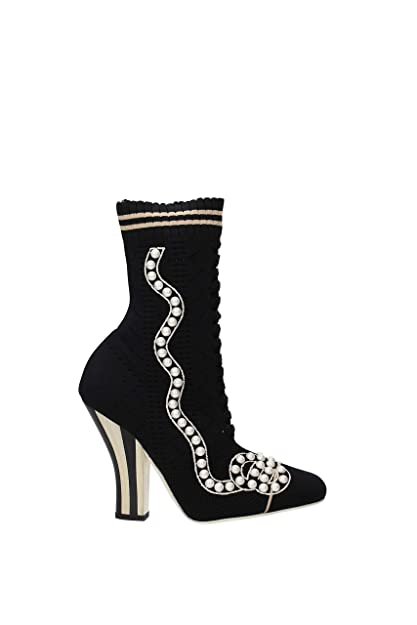 0059bccb Fendi Ankle Boots Women - Fabric (8T6514A15P) UK: Amazon.co.uk ...