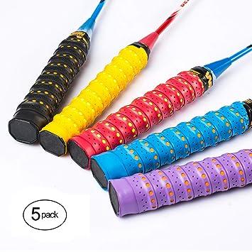 Windwalker S2 5pics de Sobregrip cinta de agarre antideslizante absorbente para raquetas de tenis badminton pesca padel volante bate de beisol ...
