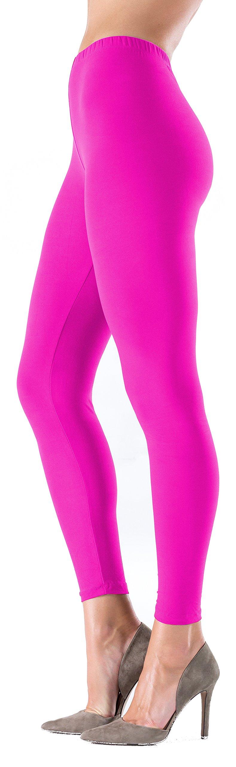 c4700ccac635f LMB Women?s Soft Classic Leggings Stretch Fit Sexy Contour 40+ Colors One  Size