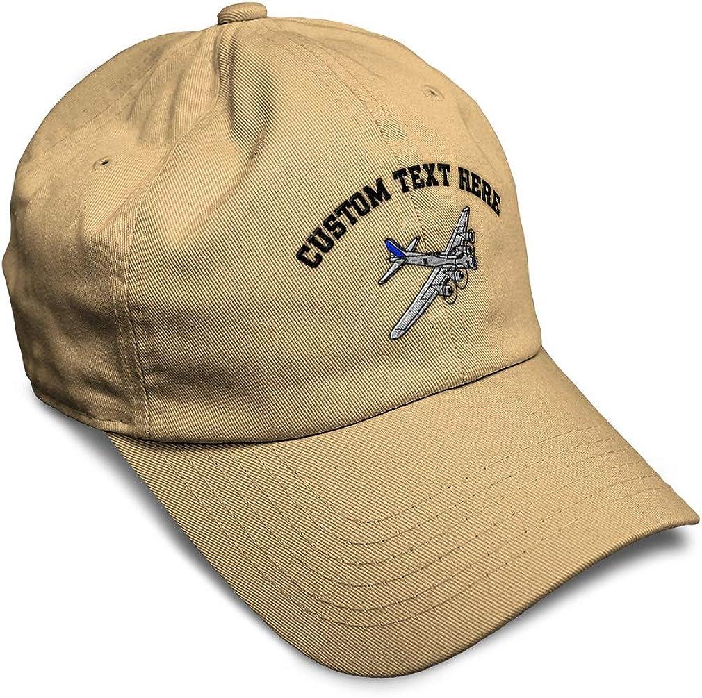 Custom Soft Baseball Cap Plane B-17 Bomber Embroidery Dad Hats for Men /& Women