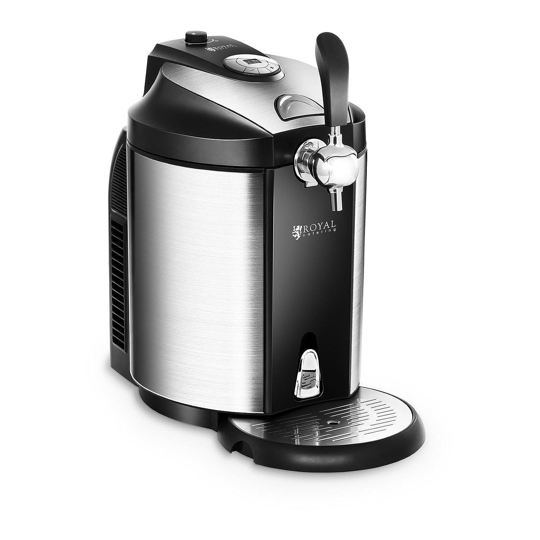 Royal Catering Dispensador de Cerveza Tirador de Cerveza con Refrigeración RCBD-5L (para todos los barriles de 5 L, Refrigeración 2-12 °C, Pantalla LED, ...