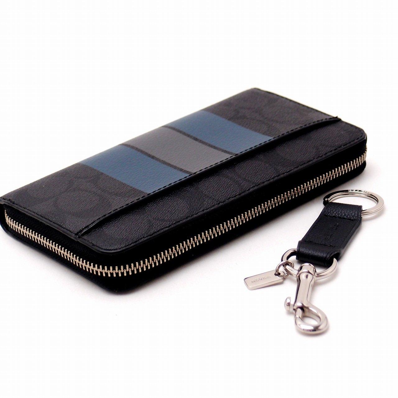 7756e2b502f6 Amazon | [コーチ] COACH 財布 メンズ 長財布 キーリング キーホルダー 2点セット ギフトセット 55484MS9  [アウトレット品] [並行輸入品] | 財布