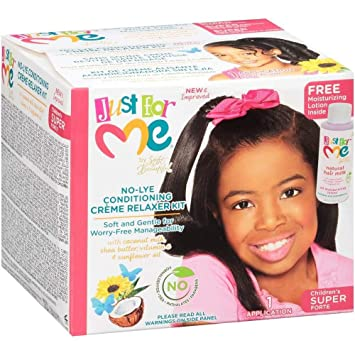 fa0de4ce5 Just for Me No-Lye Conditioning Creme Relaxer, Children's 1 Kit Super:  Amazon.ca: Beauty