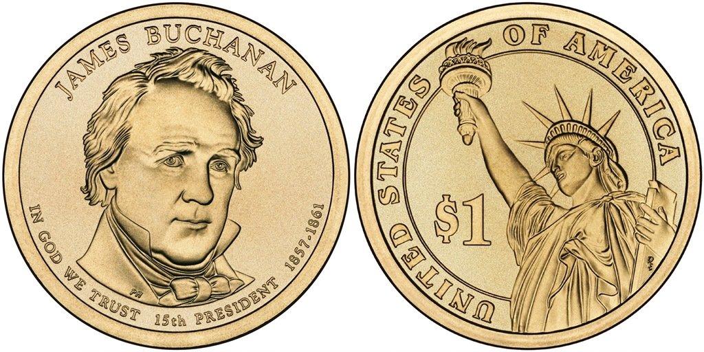 Millard Fillmore 2 coins 2010- P/&D  BU US Presidential One Dollars