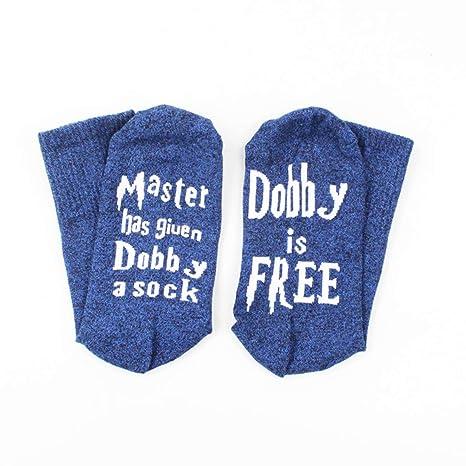 Surenhap Unisex Medias de algodón Novedad Calcetines Divertido Conjunto El Maestro le ha Dado a Dobby