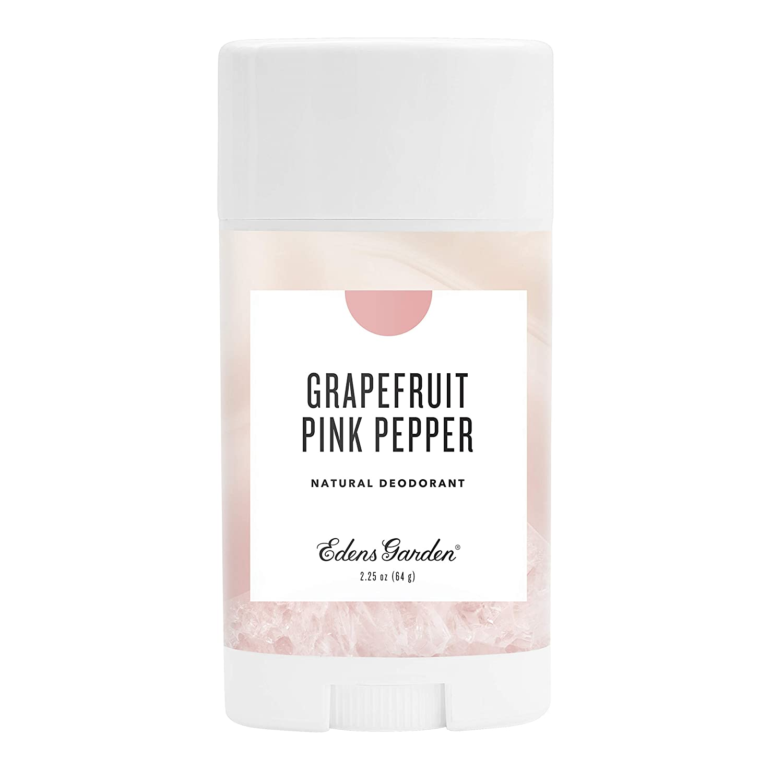 Edens Garden Grapefruit Pink Pepper Natural Deodorant, Aluminum & Baking Soda Free (For Normal & Sensitive Skin), Made With Essential Oils, Vegan, For Men & Women, 2.25 oz