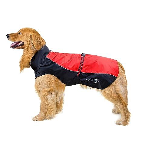 SELMAI Abrigos Impermeables para Perros Grandes Reflectantes ...