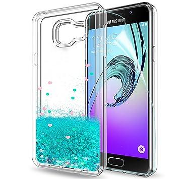 LeYi Compatible with Funda Samsung Galaxy A3 2016 Silicona Purpurina Carcasa con HD Protectores de Pantalla,Transparente Cristal Transparente Gel ...