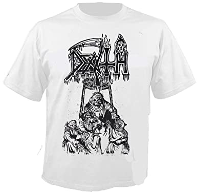 7454db1e97161e Death - Scream Bloody Gore - Line Art - White - T-Shirt Größe XXL ...