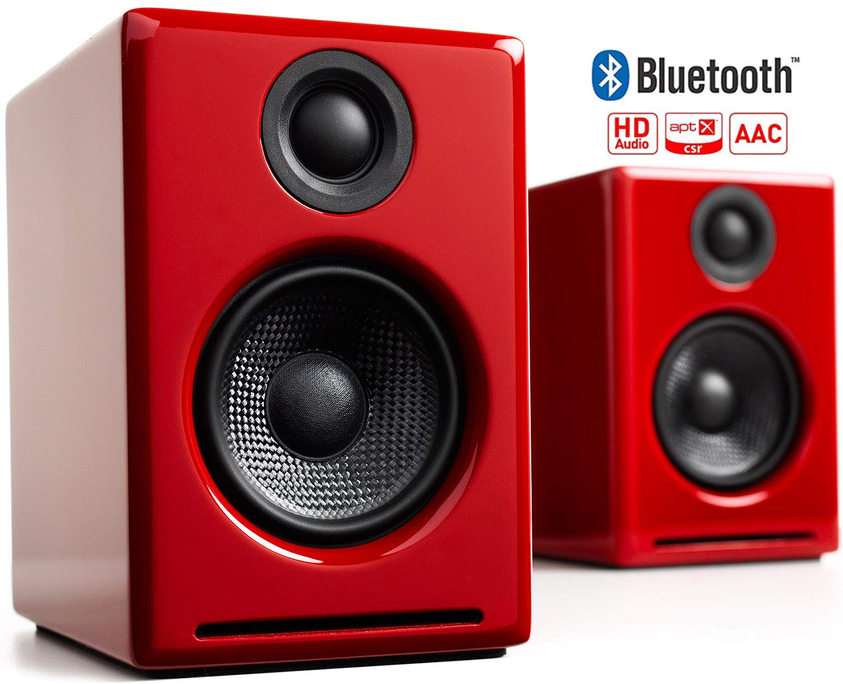 Audioengine A2+ Wireless 60W Powered Desktop Speakers | Built-in 24Bit DAC & Amplifier | Bluetooth aptX Codec, Direct USB Connection, 3.5mm and RCA Phono inputs | Cables Included