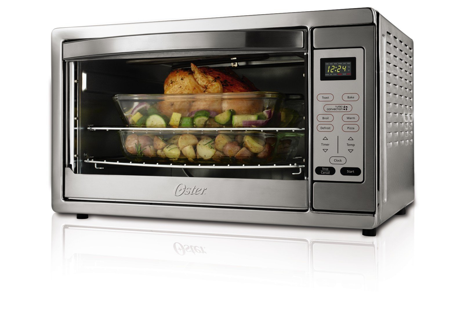Oster Extra Large Digital Countertop Convection Oven, Stainless Steel (TSSTTVDGXL-SHP)