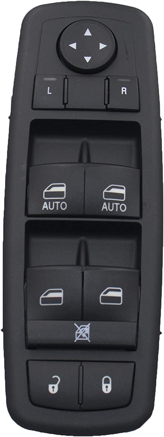 68110871AA Left Driver Side Power Master Switch Fit for 2012-2017 Dodge Grand Caravan; for 2012-2016 Chrysler Town /& Country